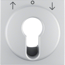 15061404 Centre plate for key push-button for blinds/key switch aluminium,  matt,  lacquered