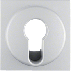 15071404 Centre plate for key switch/key push-button Berker S.1/B.3/B.7, aluminium,  matt,  lacquered