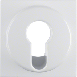 15078989 Centre plate for key switch/key push-button polar white glossy