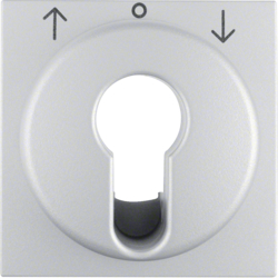 15081404 Centre plate for key push-button for blinds/key switch Berker S.1/B.3/B.7, aluminium,  matt,  lacquered