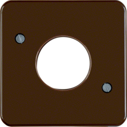 153001 Centre plate for push-button/pilot lamp E10 Splash-protected flush-mounted IP44, brown glossy