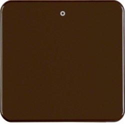 "155111 Rocker with imprint ""0"" Splash-protected flush-mounted IP44, brown glossy"