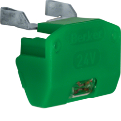 1618 Incandescent lamp unit for switches/push-buttons Isopanzer IP44, green