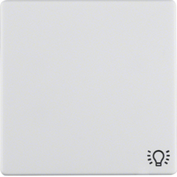 16206049 Rocker with imprinted symbol for light Berker Q.1/Q.3, polar white velvety