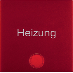 "16211902 Rocker with imprint ""Heizung "" red lens,  red matt"