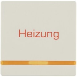 "16216062 Rocker with imprint ""Heizung"" orange lens,  Berker Q.1/Q.3/Q.7/Q.9"