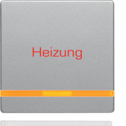 "16216064 Rocker with imprint ""Heizung"" orange lens,  Berker Q.1/Q.3/Q.7/Q.9"