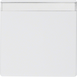 16266089 Rocker with labelling field,  Berker Q.1/Q.3, polar white velvety