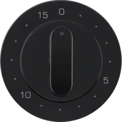 16322045 Centre plate for mechanical timer Berker R.1/R.3, black glossy