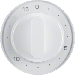 16322089 Centre plate for mechanical timer Berker R.1/R.3, polar white glossy