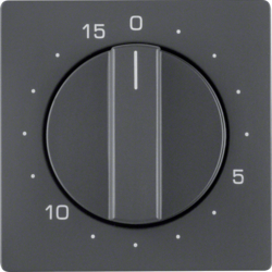 16326086 Centre plate for mechanical timer Berker Q.1/Q.3, anthracite velvety,  lacquered