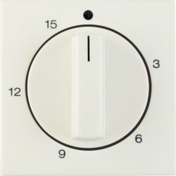 16328982 Centre plate for mechanical timer Berker S.1, white glossy