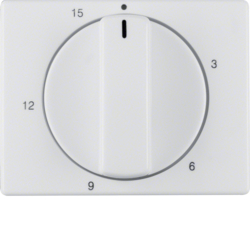 16340069 Centre plate for mechanical timer Berker Arsys,  polar white glossy