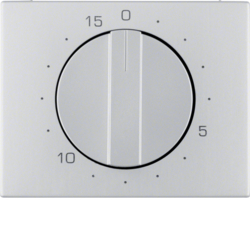 16347103 Centre plate for mechanical timer Berker K.5, Aluminium,  aluminium anodised