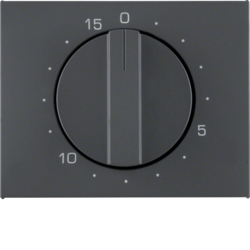 16347106 Centre plate for mechanical timer Berker K.1, anthracite matt,  lacquered