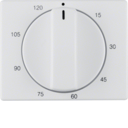 16350069 Centre plate for mechanical timer Berker Arsys,  polar white glossy