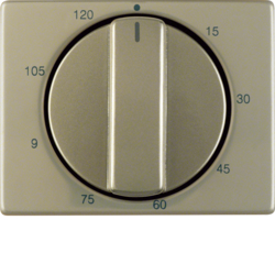 16350101 Centre plate for mechanical timer Berker Arsys,  light bronze matt,  aluminium lacquered