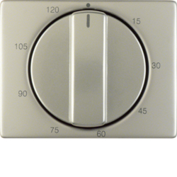 16350104 Centre plate for mechanical timer Berker Arsys,  stainless steel,  metal matt finish
