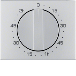 16357103 Centre plate for mechanical timer Berker K.5, Aluminium,  aluminium anodised