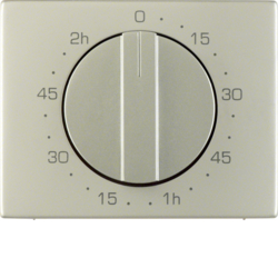 16357104 Centre plate for mechanical timer Berker K.5, stainless steel,  metal matt finish