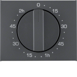 16357106 Centre plate for mechanical timer Berker K.1, anthracite matt,  lacquered