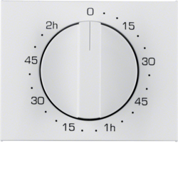 16357109 Centre plate for mechanical timer Berker K.1, polar white glossy