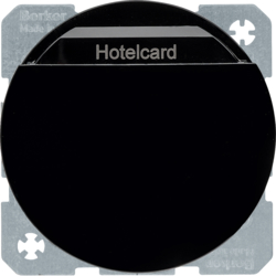 16402045 Relay switch with centre plate for hotel card black glossy