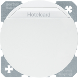16402089 Relay switch with centre plate for hotel card polar white glossy