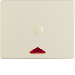 16410002 Centre plate with imprint for push-button for hotel card with red lens,  Berker Arsys,  white glossy