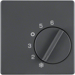 16706086 Centre plate for thermostat with setting knob,  Berker Q.1/Q.3/Q.7/Q.9, anthracite velvety,  lacquered