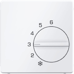 16706089 Centre plate for thermostat with setting knob,  Berker Q.1/Q.3/Q.7/Q.9, polar white velvety