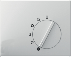 16707109 Centre plate for thermostat with setting knob,  Berker K.1, polar white glossy