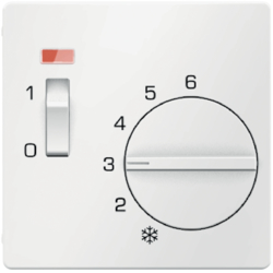 16716089 Centre plate for thermostat pivoted,  Setting knob,  Berker Q.1/Q.3/Q.7/Q.9, polar white velvety