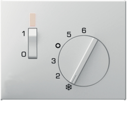 16717109 Centre plate for thermostat pivoted,  Setting knob,  Berker K.1, polar white glossy