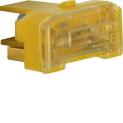 167602 Glow lamp unit with N-terminal Light control,  yellow