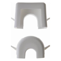 181309 Wire and duct entry Surface-mounted,  polar white
