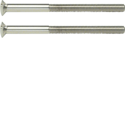 189513 Two-hole screws 2 x M3.5 x 50 mm Berker TS,  stainless steel matt,  brushed nickel