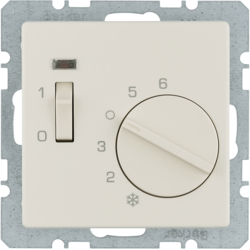20306082 Temperature controller,  NC contact,  with centre plate with rocker switch