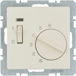 20316082 Temperature controller,  NC contact,  with centre plate,  24 V AC/DC with rocker switch