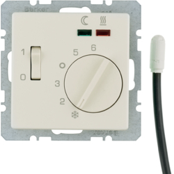 20346082 Thermostat,  NO contact,  with centre plate,  for underfloor heating with rocker switch,  external temperature sensor