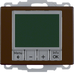 20440001 Time-controlled,  Berker Arsys,  brown glossy