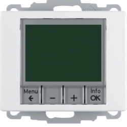 20440069 Time-controlled,  Berker Arsys,  polar white glossy