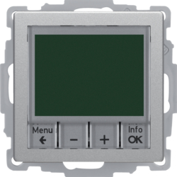 20446084 Thermostat,  NO contact,  with centre plate Time-controlled,  Berker Q.1/Q.3