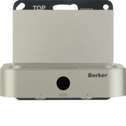 28837004 Docking station Berker K.5, stainless steel matt,  lacquered