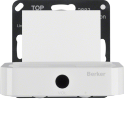 28839909 Docking station Berker S.1/B.3/B.7, polar white matt