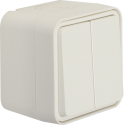 30753502 Series switch surface-mounted Berker W.1, polar white matt