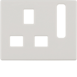 3313070069 Centre plate for socket outlets,  British Standard,  can be switched off Berker Arsys,  polar white glossy