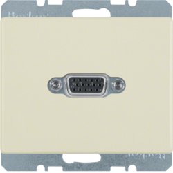 3315400002 VGA socket outlet Berker Arsys,  white glossy