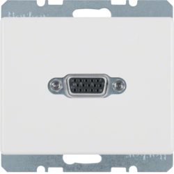 3315400069 VGA socket outlet Berker Arsys,  polar white glossy