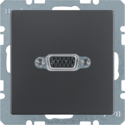 3315406086 VGA socket outlet anthracite velvety,  lacquered